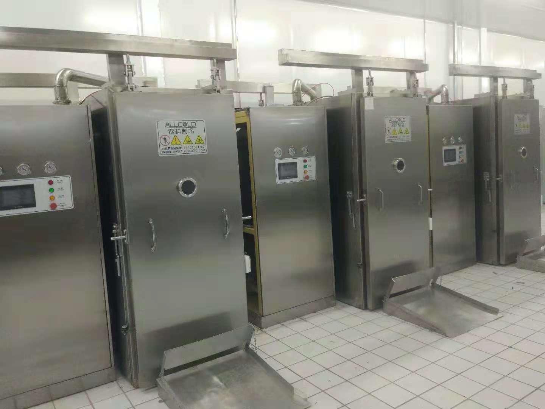 应用:中央厨房餐饮配送中心,  国家:中国,出厂日:2018年8月, 项目:3台500公斤/次真空快速冷却机