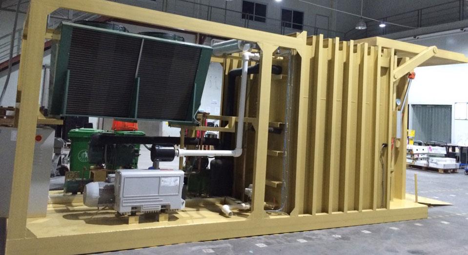 应用:食品速冻冷藏,国家:中国深圳,出厂日:2014年11月, 项目:500平方冷藏速冻库